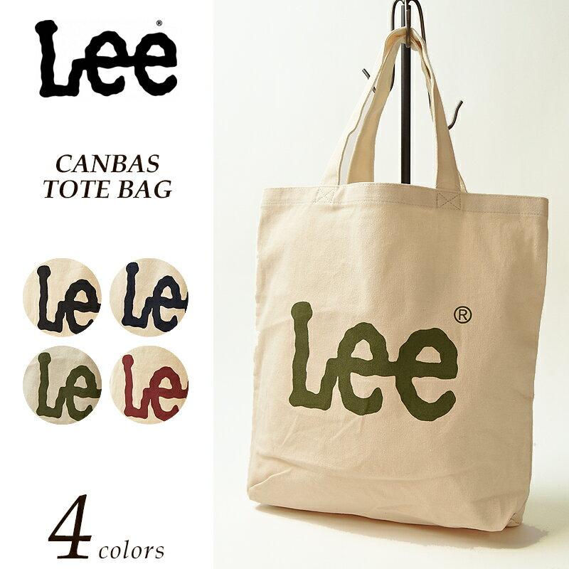 【送料無料】Lee リー ポケット付きキャンバストートバッグ ビッグロゴ レディース メンズ QPER60 ショッピングバッグ 【コンビニ受取対応商品】