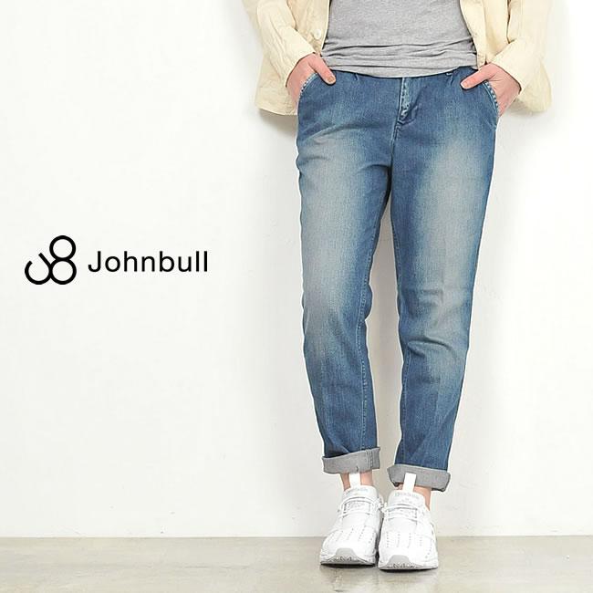 裾上げ無料 ジョンブル Johnbull **コンフォートトラウザー デニムパンツ AP365-1 レディース
