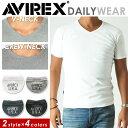 【送料無料】AVIREX アビレックス Vネック/クルーネック半袖Tシャツ 6143501/6143502 avirex/アヴィレックス/Tシャツ/…