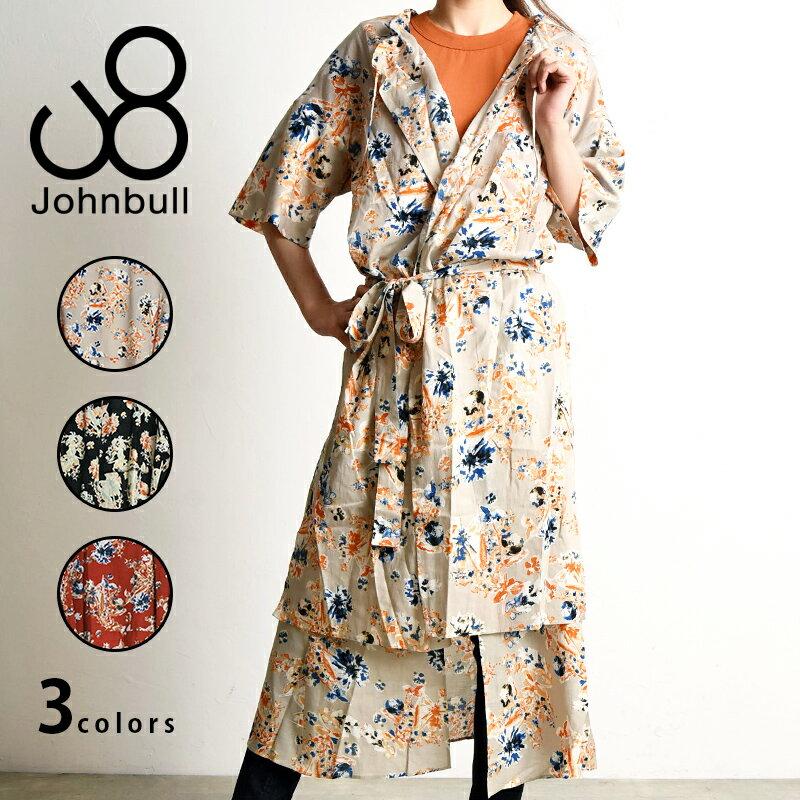 ジョンブル Johnbull ヴィンテージフラワードレス レディース カシュクール ワンピース 羽織 AW726