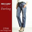 【ポイント10倍/送料無料】RED CARD レッドカード Darling ダーリン ボーイフレンドデニムパンツ 27510【コンビニ受取対応商品】