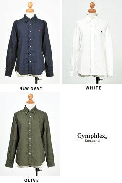 【送料無料】Gymphlexジムフレックスリネンクロス長袖ボタンダウンシャツレディースJ-0872KLS