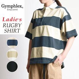 2019春夏新作 ジムフレックス Gymphlex ラグビーシャツ レディース 半袖シャツ ジムフレ #J-1336