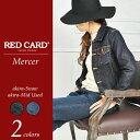 """【ポイント10倍/送料無料】RED CARD レッドカード """"Mercer"""" デニムジャケット/Gジャン REDCARD RCG005(G005)レディ…"""