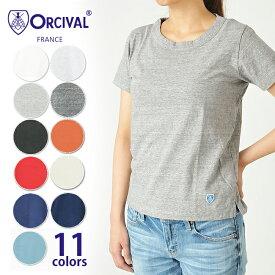 オーシバル オーチバル ORCIVAL天竺コットンの柔らかクルーネック半袖Tシャツ #RC-6919 レディース Tシャツ