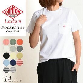 2019春夏新作 ダントン DANTON 半袖ポケット Tシャツ レディース ロゴTシャツ JD-9041