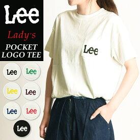 【再値下げ】SALEセール20%OFF 2019春夏新作 Lee リー ロゴプリント クルーネック ポケットTシャツ レディース LS1242