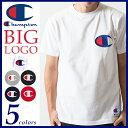 【送料無料(メール便)】Champion チャンピオン ビッグロゴ刺繍Tシャツ アクションスタイル Tシャツ ACTION STYLE BIG LOGO T-S...