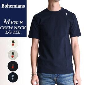 送料無料(ゆうパケット)ボヘミアンズ Bohemians 半袖 スパンリブ Tシャツ(クルーネック)ラブハット メンズ インナー コットン BT40