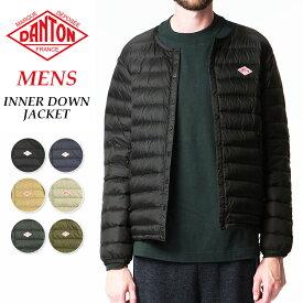 2019秋冬新作 ダントン DANTON インナーダウン ジャケット メンズ クルーネック 長袖 JD-8751 防寒 軽い 暖かい あたたかい ウォームビズ