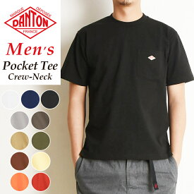 2020春夏新作 ダントン DANTON ポケットTシャツ 半袖 メンズ ロゴTシャツ ポケT 無地 厚手 JD-9041