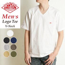 2020新作 DANTON ダントン 半袖 ロゴ Tシャツ Vネック メンズ カットソー ロゴT JD-9213