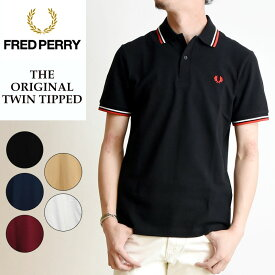 2019春夏新作 FRED PERRY フレッドペリー ツインティップ ポロシャツ 半袖 メンズ 鹿の子 白 M12N