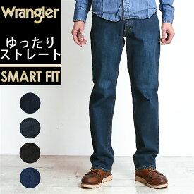 新作 裾上げ無料 ラングラー Wrangler 股上深め ゆったりレギュラーストレート デニムパンツ メンズ ストレッチ ジーンズ WM3904