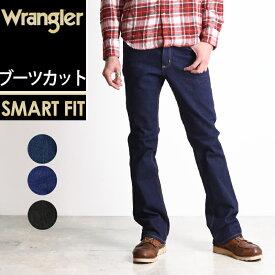 定番 裾上げ無料 ラングラー Wrangler 股上深め ブーツカット デニムパンツ メンズ ストレッチ ジーンズ ジーパン フレア WM3907