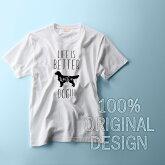 DOGDesignTシャツ【LIFEISBETTERwithaDOG】