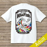 SPORTS名入りオリジナルTシャツ【wildfishing】和風デザインプリントアダルトサイズS~XXXL(両面プリント前後)