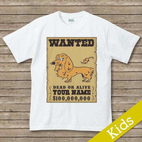 オリジナルDOG 名入れTシャツ【wanted】 ダックスフント