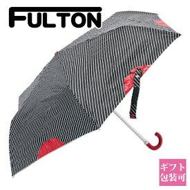 【後払い OK】フルトン FULTON 傘 かさ 折り畳み傘 リップ柄 PINSTRIPE LIP L718【花柄 レディース 女性 ワンタッチ ジャンプ傘 自動開き 英国王室御用達 ブランド 正規品 新品 プレゼント ギフト】