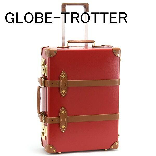 送料無料 新品 グローブトロッター GLOBE-TROTTER キャリーケース スーツケース 旅行かばん 旅行鞄 21 CENTENARY センテナリー トローリーケース レッド GTCNTRT20TC RED TAN 正規品 セール ホワイトデー お返し 入学祝い 2018 ブランド品