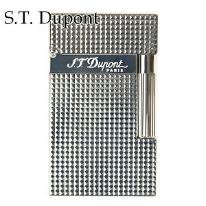 エス・テ・デュポン エス・ティー・デュポン S.T.Dupont ガスライター ライター 喫煙具 ライン2 016184 高級 メンズ 男性のに シルバー 1.5mm ダイアモンド・ヘッド・カット 正規品 ブランド 新品