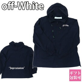オフホワイト OFF-WHITE ウィンドブレーカー アウター ブラック OMEA169R19C010261001【OFF WHITE 大きいサイズ フード付き 男性 新品 正規品 セール】