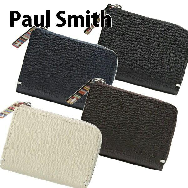 名入れ 送料無料 新品 ポールスミス Paul Smith コインケース メンズ 小銭入れ カードケース 名刺入れ レザー 革 ジップストローグレイ PSK862 正規品/セール 2018/ブランド品/ジップストローグレイン 833920