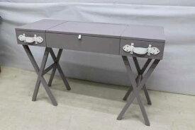 アウトレット家具 Baque de Loop 鏡台 デスク 机 dsk-eu-w120 ミンディーウッド インテリア グレー 灰色