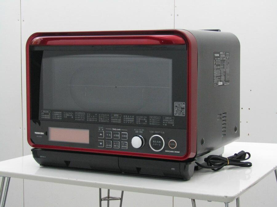 【中古 レンジ】東芝 石窯ドーム 加熱水蒸気 オーブンレンジ ジャパネットオリジナルER-JZ1000(R) 30L グランレッド 2007年製