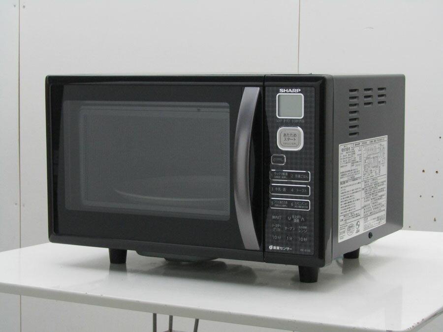 【中古 レンジ】シャープ オーブンレンジ RE-S15E-B 500W ブラック 2012年製
