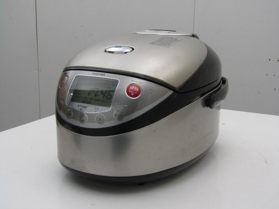 【あす楽】【中古 炊飯器】東芝 5.5合炊き IH炊飯器 真空炊き RC-10VXA プレミアムシルバー 2007年製