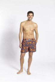 Tom & Teddy Octpus Blue & Orenge オクトパス・ブルー & オレンジ トム & テディー メンズ サイズ オーストラリアンスイムウェア 水着 男性用 サーフパンツ ハーフパンツ 海水浴 プール 海パン