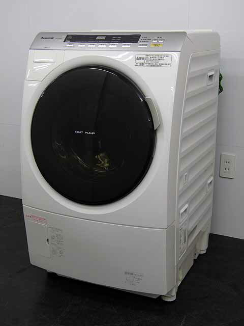 【中古】【洗濯機】パナソニック ドラム式 洗濯乾燥機 NA-VX3000L 左開き 洗濯9.0kg 乾燥6.0kg クリスタルホワイト 2011年製 【◆L◆】中古洗濯機 洗濯機 家電 4〜6人用 大家族 ファミリー 大型 激安 乾燥機能付
