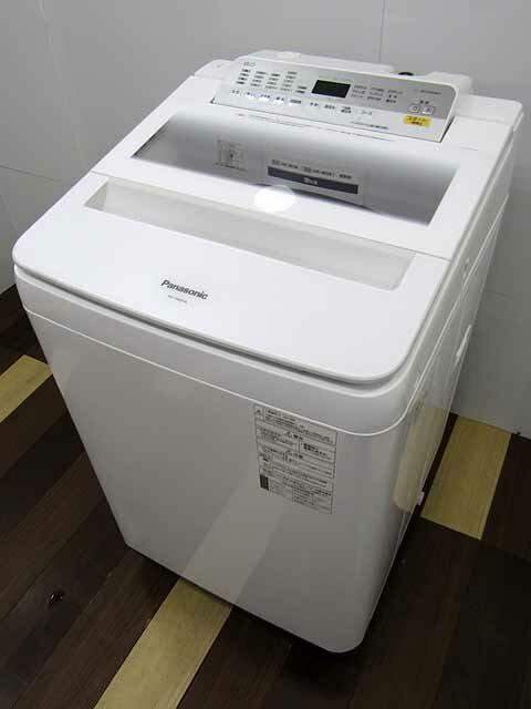 【あす楽】【中古 洗濯機】パナソニック 全自動洗濯機 NA-FA80H6 8.0kg ホワイト 2019年製 【L】中古洗濯機 洗濯機 家電 4〜6人用 大家族 ファミリー 大型 激安