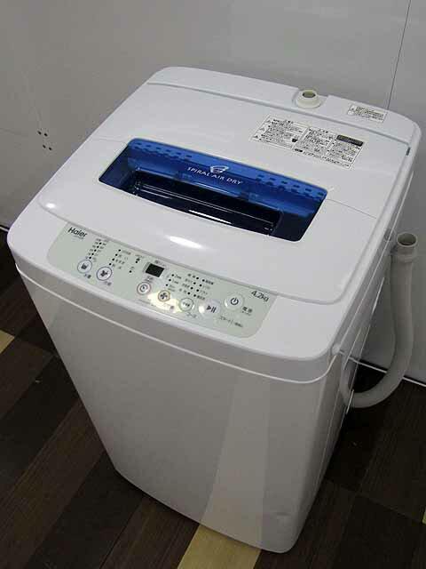 【あす楽】【中古】【冷蔵庫】【年式・型式お任せ】ハイアール 全自動洗濯機 4.2kg ホワイト JW-K42H/JW-K42M 2014〜2017年製 【S】中古洗濯機 洗濯機 家電 1人暮らし 単身者向け 1人用 小型 激安