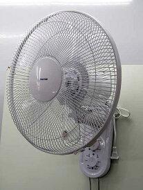 【あす楽】【リユース新品】【保証付き】【扇風機】テクノス ACモーター 壁掛け扇風機 引き紐式 KI-W422 ホワイト 2018年製