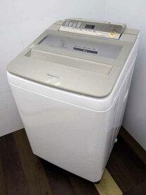 【中古 洗濯機】パナソニック NA-FA80H6 8.0kg シャンパン 2018年製 【L】中古洗濯機 洗濯機 家電 4〜6人用 大家族 ファミリー 大型 激安 価格 安い おすすめ 一人暮らし
