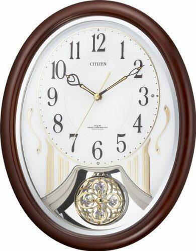 訳あり アウトレット品 リズム時計工業 シチズン 電波時計 壁掛け時計 パルミューズストリーム 4MN510-006 メロディー CITIZEN アナログ