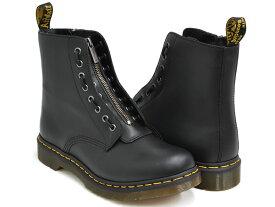 Dr.Martens 1460 PASCAL FRNT ZIP 8EYE BOOT【ドクターマーチン パスカル フロント ジップ 8 アイ ブーツ ホール】【革靴 シューズ メンズ ウィメンズ レディース ユニセックス 男性 女性】BLACK NAPPA