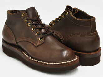 NICKS BOOTS OXFORD 4inch WALNUT SMOOTH LEATHER #2021 VIBRAM SOLE (BROWN) (WIDTH:E)