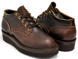 NICKS BOOTS OXFORD LACE TO TOE 3inch BROWN DOMAINE (ANAFLEX) LEATHER 2021 VIBRAM SOLE (BROWN) (WIDTH:E)