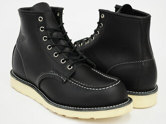 RED WING 6INCH MOC TOE BOOT '' IRISH SETTER' ' #8130 BLACK CHROME WIDTH:D