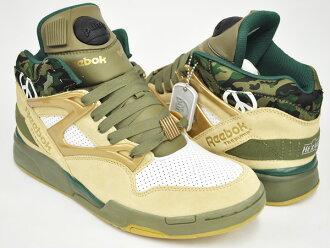 "REEBOK PUMP OMNI LITE ""FULL METAL JACKET"" CHINO/BRASS/WHT/BLK / GREEN"
