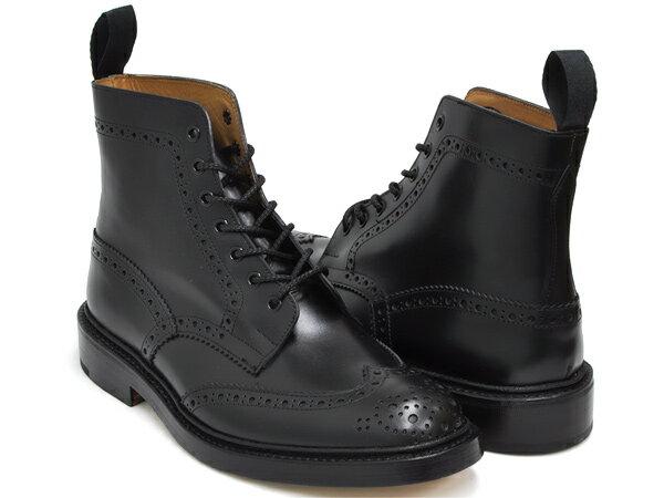 Tricker's BROGUE BOOTS STOW 5634【トリッカーズ ブローグ ブーツ ストウ】【COUNTRY BOOTS カントリーブーツ MALTON モールトン 2508】BLACK BOX CALFFITTING:5 (Eワイズ相当)