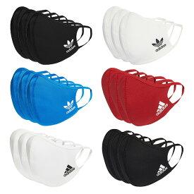 adidas FACE COVERS 3-PACK【アディダス フェイスカバー スポーツ マスク】【大人 子供 キッズ 男性 女性 男女兼用 メンズ ウィメンズ ユニセックス】【ブラック 黒 ホワイト 白 ブルー 青 レッド 赤】6 COLORS (同色3枚セット)