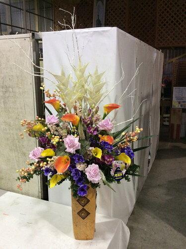 造花 アレンジメント H135cm 特大 人工観葉植物