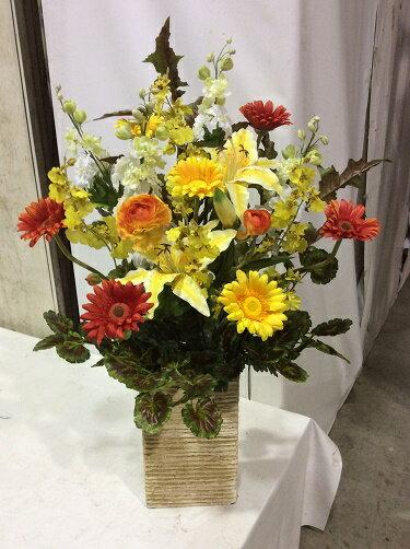 造花 アレンジメント H70-90cm 特大 人工観葉植物