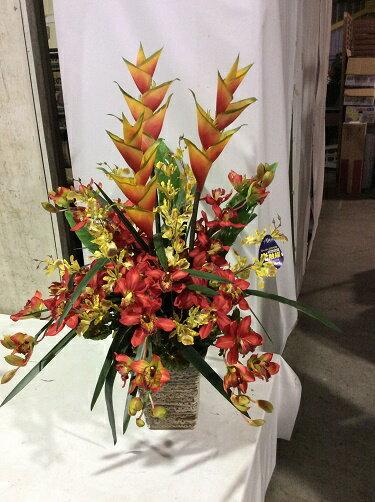 造花 アレンジメント H90cm 特大 人工観葉植物