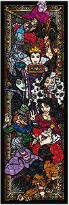 456ピース ジグソーパズル ディズニー ヴィランズ ステンドグラス ぎゅっとシリーズ ステンドアート (18.5x55.5cm)
