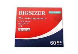 ビッグサイザー BIGSIZER 60粒 1箱30日分 18000mg 成分 アルギニン シトルリン 亜鉛 マカ マムシ スッポン ビタミンE、パントテン酸、パフィア、ビタミンB2、HMB、葉酸、ビタミンA、ビタミンD、ビタミンB12 ムイラプアママムシ、サソリ